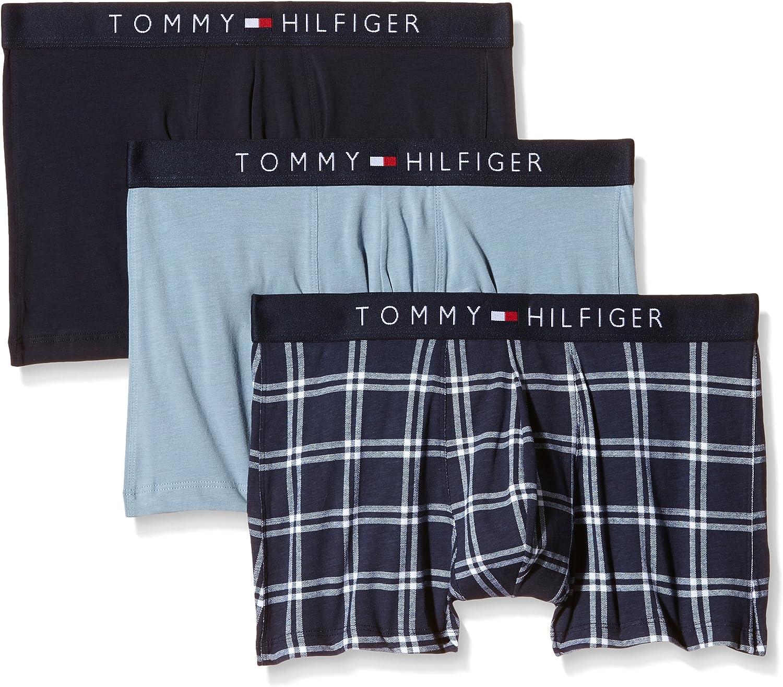 Tommy Hilfiger Icon Trunk 3 Pack Check Bóxer, Multicoloured-Multicolore (Navy Blazer/PT/Faded Denim/EU/Navy B), Large (Pack de 3) para Hombre: Amazon.es: Ropa y accesorios