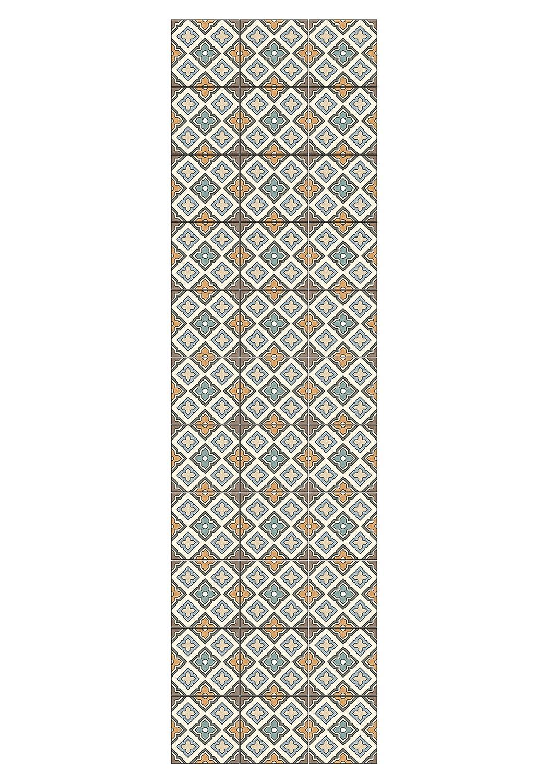 Huella Deco H1024-RU-XS Cementine Tappeto Runner Mat Floor, Vinile, 50x100 cm Koeso Srl