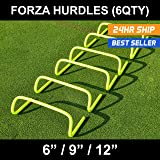 "6""/9""/12"" SPEED HURDLES - New & Improved Design for Agility Training [Set of 6] [Net World Sports]"