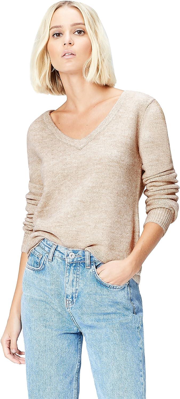 Marca Amazon - find. Jersey con Detalle a la Espalda para Mujer