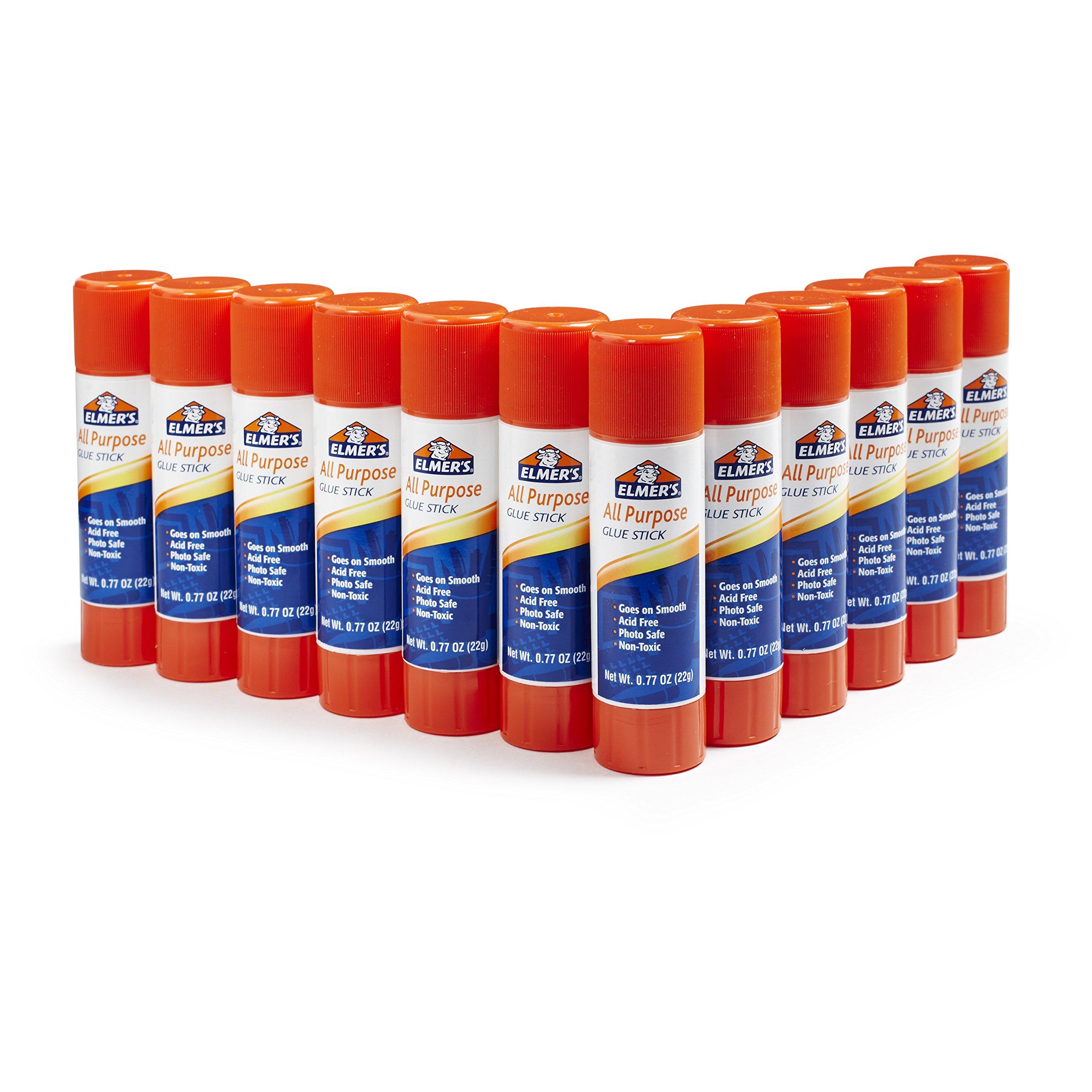 Elmer's All Purpose Glue Sticks, 12 Pack, 0.77-ounce sticks by Elmer's
