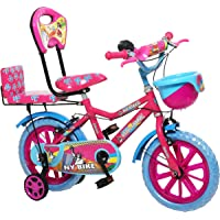 "NY Bikes Buzzer 14"" Kids Bicycle for 3-5 Years (Pink & Sky) Kids Bike"
