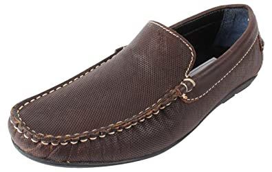 EXPORT SURPLUS LEATHER GOODS Men's Brown Leather Loafers - 10 UK