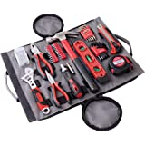 Apollo Tools DT4945 Household Tool Kit in Roll-Up Zippered Bag, Includes Tools. 91 Piece – Great for Home, Car and Camping
