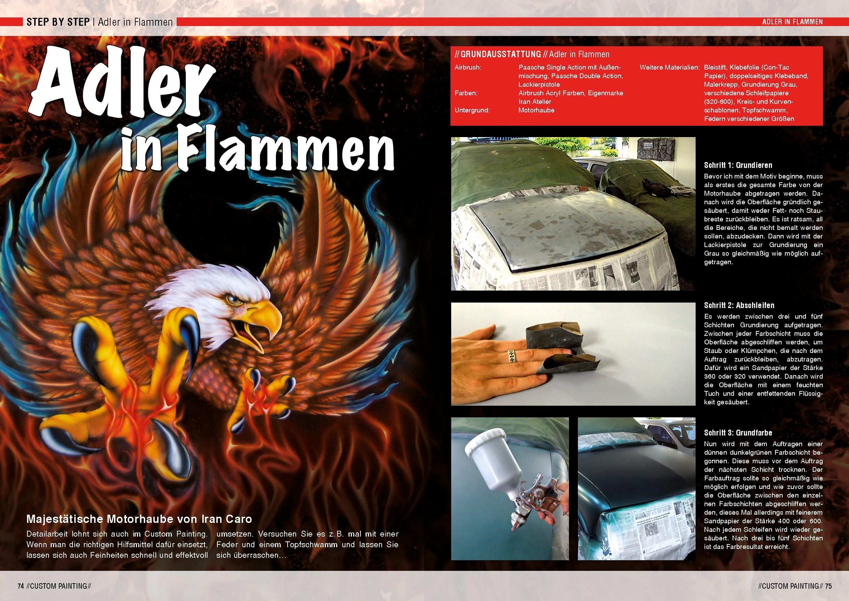Custom Painting Übungsbuch für Einsteiger: Airbrush-Kunst auf Autos ...