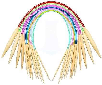 c0ba6fa8562 Amazon.com  16 inch Circular Knitting Needles Set Knitting Kit Size 15 13  11 10 9 8 7 6 5 4 3