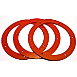 """Pellet Stove 6"""" SILICONE Round Gasket for Combustion/Exhaust Fan - 3 Pack SILICONE"""
