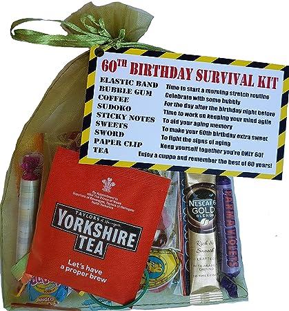 60th cumpleaños kit de supervivencia una pipa de regalo ...