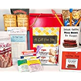 Book Lovers Writer Librarian Teacher Parent Love to Read Reader Gift Box Basket Birthday Christmas - High Caliber Mug, Retro Library Memo Cards, Premium Coffee & Tea, More! - Prime For Women Men