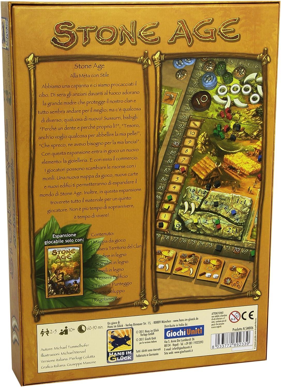 Giochi Uniti Stone Age Alla Meta con Stile - Expansión para Juego de Mesa (versión en Italiano) [Importado de Italia]: Amazon.es: Juguetes y juegos