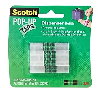Scotch 99-G-W - Recambio para dispensador de cinta adhesiva (3 x 75 unidades): Amazon.es: Oficina y papelería