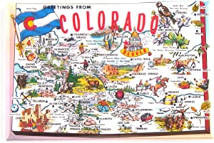Greetings from Colorado Fridge Magnet (2.5 x 3.5 inches) state map