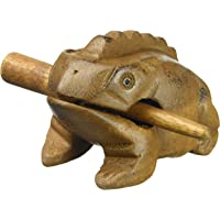 """Deluxe Small 2"""" Wood Frog Guiro Rasp - Musical Instrument Tone Block World Percussion USA"""