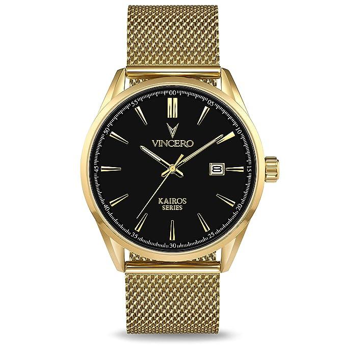 Vincero Luxury Men's Kairos Wrist Watch   Mesh Watch Band   42mm Analog Watch   Japanese Quartz Movement by Vincero