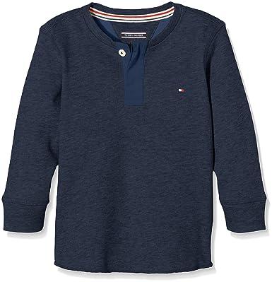Tommy Hilfiger Jungen Langarmshirt DG Basic Pique Henley L S, Gr. 164 ( 880ba697a0