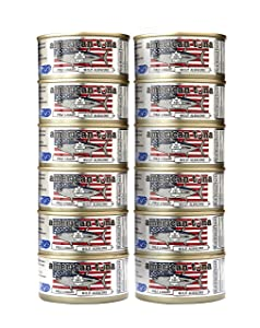 American Tuna MSC Certified Sustainable Pole & Line Caught Albacore Tuna, 6oz Can No-Salt Added, Caught & Canned in America (12 Pack)