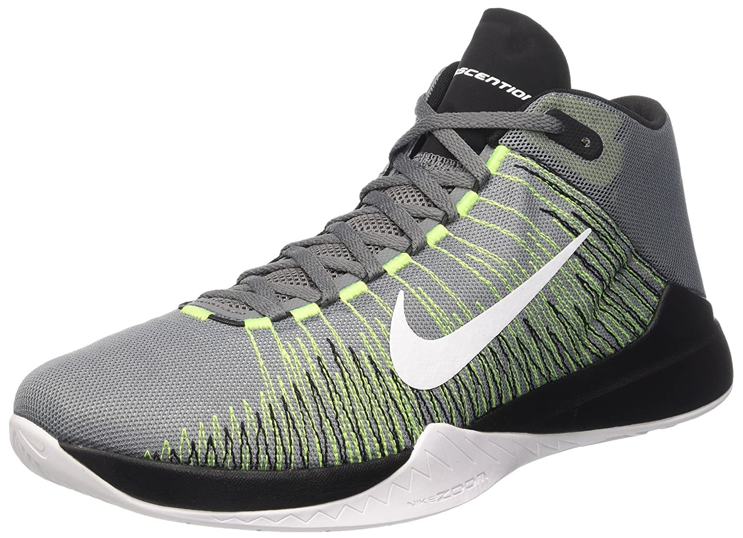 Nike Herren Zoom Ascention Basketballschuhe, Gris (Cool Grey/White-Volt-Black), 45.5 EU -