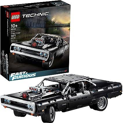 Amazon Com Lego Technic Fast Furious Dom S Dodge Charger 42111 Race Car Building Set New 2020 1 077 Pieces Toys Games