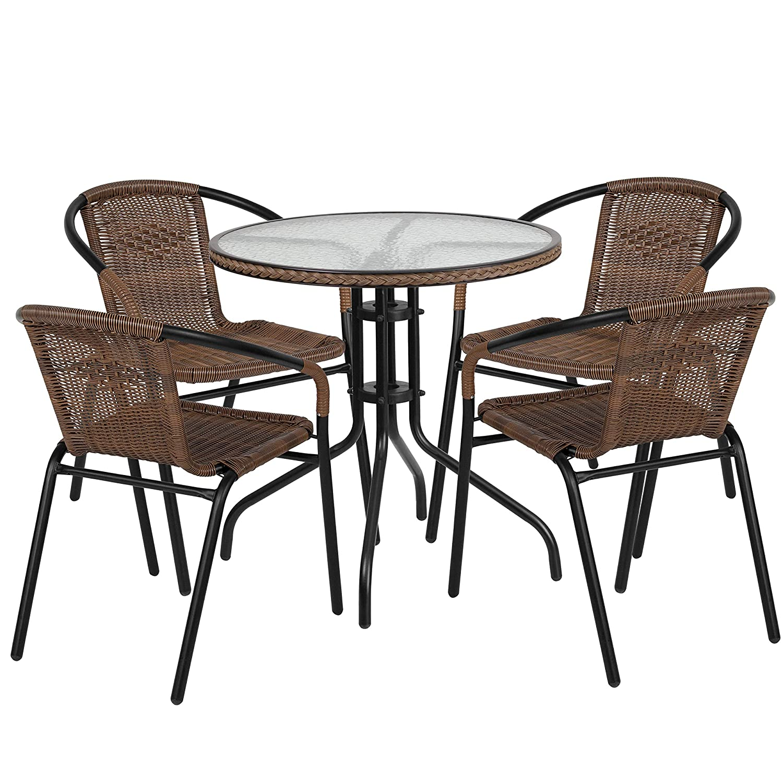 Amazon.com: Set de muebles de jardín de aluminio 5-Piece ...