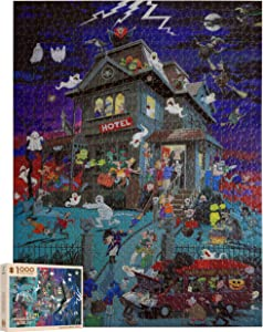 1000 Pieces Wooden Jigsaw Puzzles - Castle in The Night- Every Piece is Unique, 20 x 15 inch,Advanced Puzzle Soft Click Technology Means Pieces Fit Together Perfectly