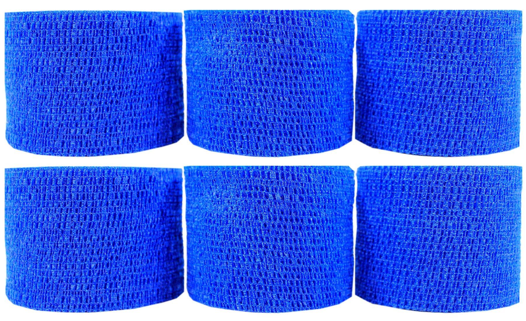 Powerflex 2'' Stretch Athletic Tape - 6 Rolls - Blue