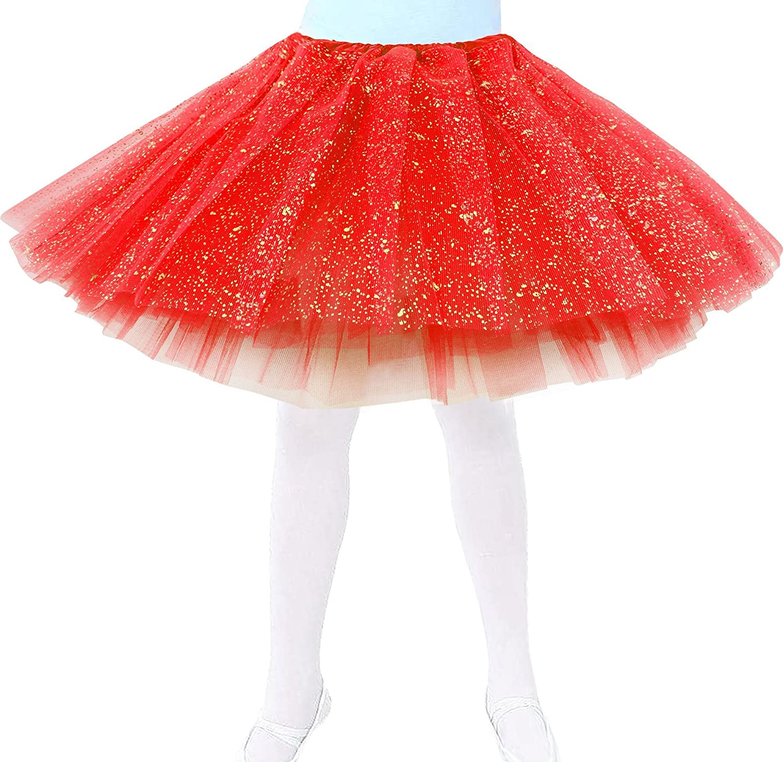 Jasmine Girls 4 Layered Tulle Princess Tutu Skirt with Polkadot/Hearts/Stars Black 88-B18030025-01