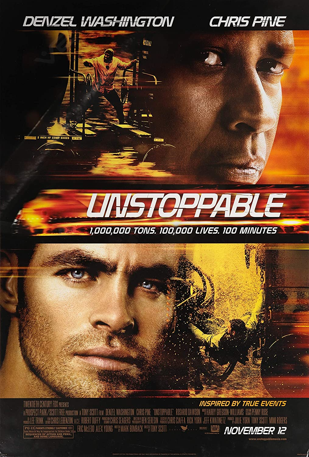 UNSTOPPABLE: Original Movie Poster at Amazon's Entertainment ...