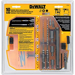 DEWALT DW5366 Anchor Drive Kit 10-Pieces