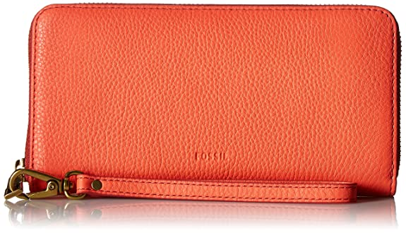 FOSSIL EMMA LARGE ZIP WALLET NOW ONLY $40.77! (11 COLORS)