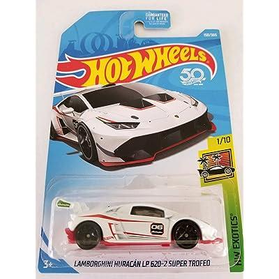 Hot Wheels 2020 50th Anniversary HW Exotics Lamborghini Huracan LP 620-2 Super Trofeo 150/365, White: Toys & Games