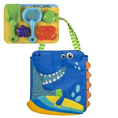 Stephen Joseph Beach Totes W/Sand Toy Play Set, Dino: Toys & Games