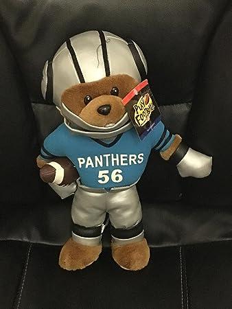"ae065b22718 Amazon.com  Th NFL Carolina Panthers plush Bear 14""  Toys   Games"