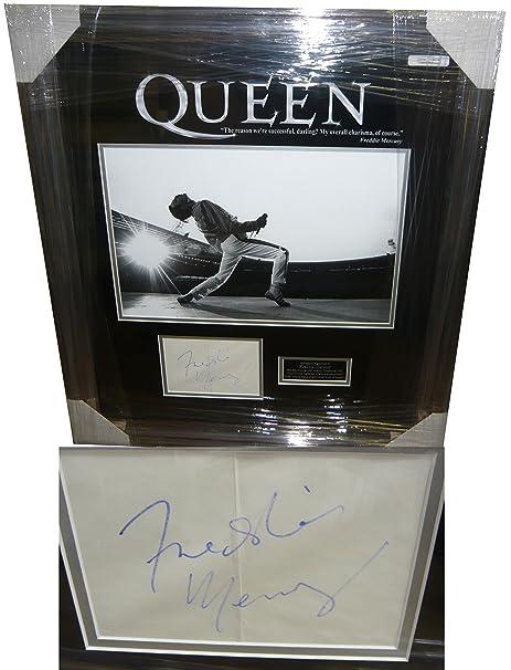80a0636bb7c Freddie Mercury Genuine Hand Signed Autograph AFTAL UACC RD  Amazon.co.uk   Kitchen   Home