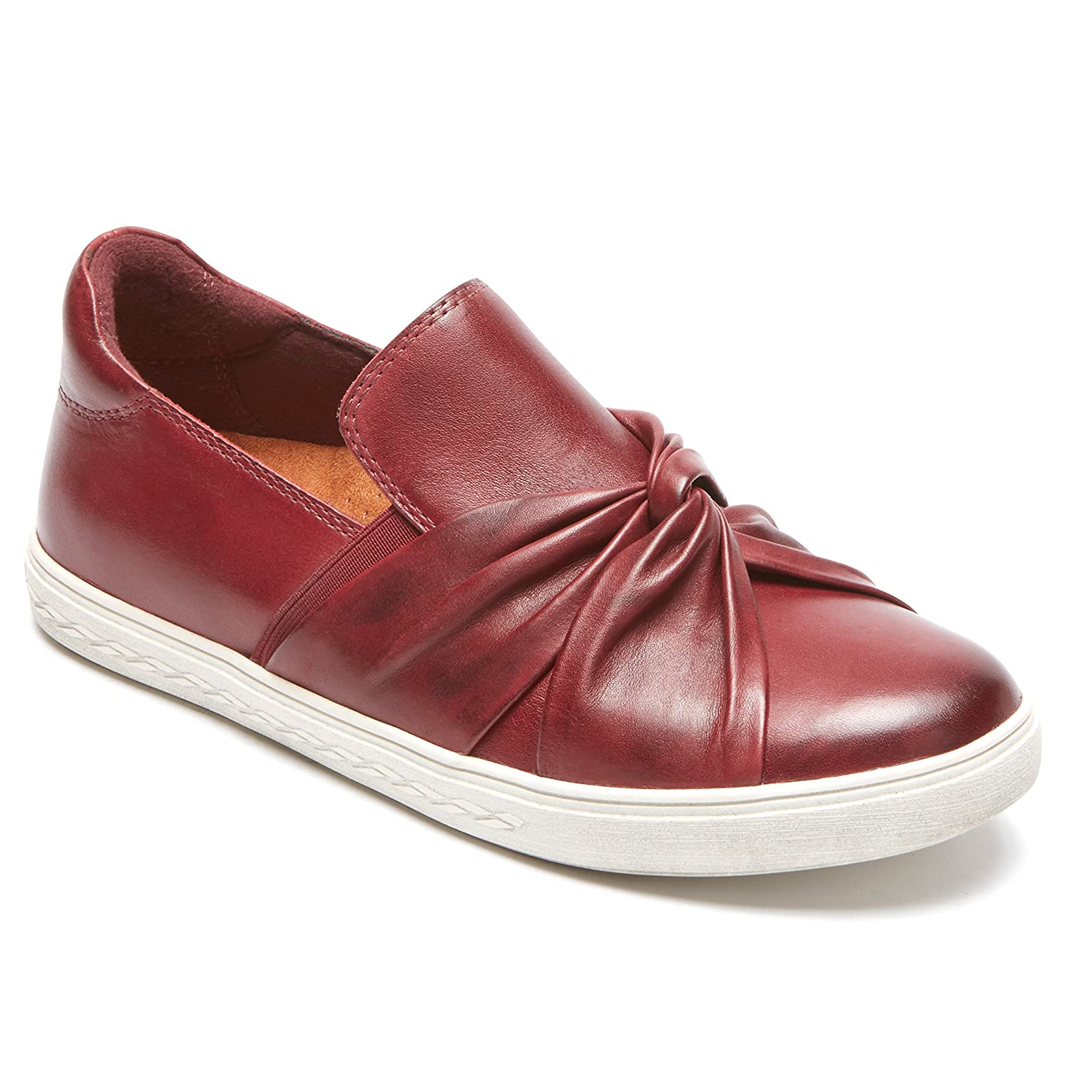 Cobb Hill Women's Willa Bow Slipon Sneaker B01N19RWGL 7.5 B(M) US|Wine Leather