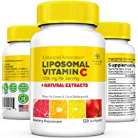 Nature's Passion Unique 3-in-1 Liposomal Vitamin C 1700mg with Natural Rosehip Extract...