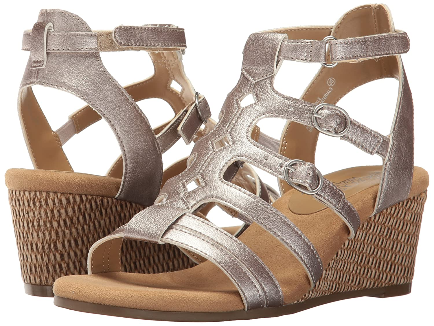 Aerosoles Women's Sparkle Wedge Sandal B01N4PDX8S 12 B(M) US|Silver