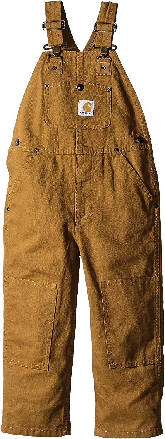 Carhartt Boys' Bib Overall, Canvas, 4T: Infant And Toddler Overalls: Clothing
