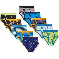 Spotted Zebra Cotton Briefs Underwear Niños, Pack de 10
