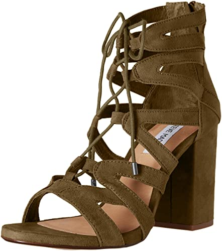 Steve Madden Women's Gal Dress Sandal, Olive, ...