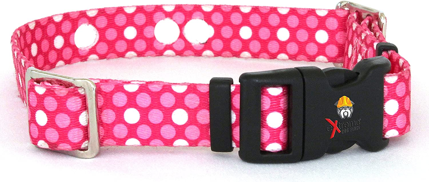 SportDOG More Replacement Receiver Collar Straps for All Brands Electric Dog Fences Up to 26 Neck Pink Dot PetSafe Invisible Fence