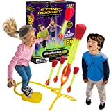 The Original Stomp Rocket Ultra Rocket LED, 4 Rockets - Outdoor Rocket Toy Gift for Boys and Girls- Comes with Toy Rocket Lau