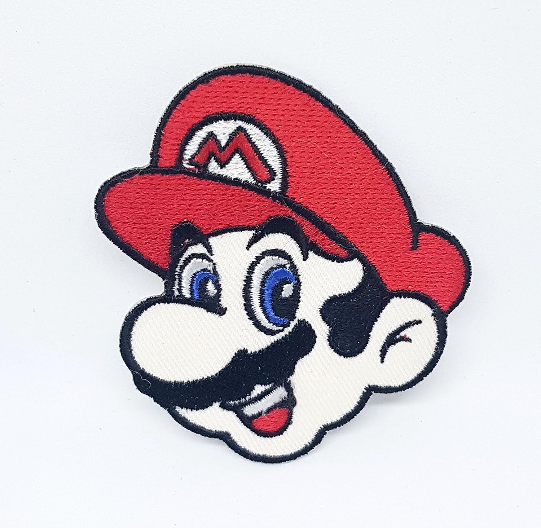 Super Mario parche bordado para planchar o coser, para disfraz ...