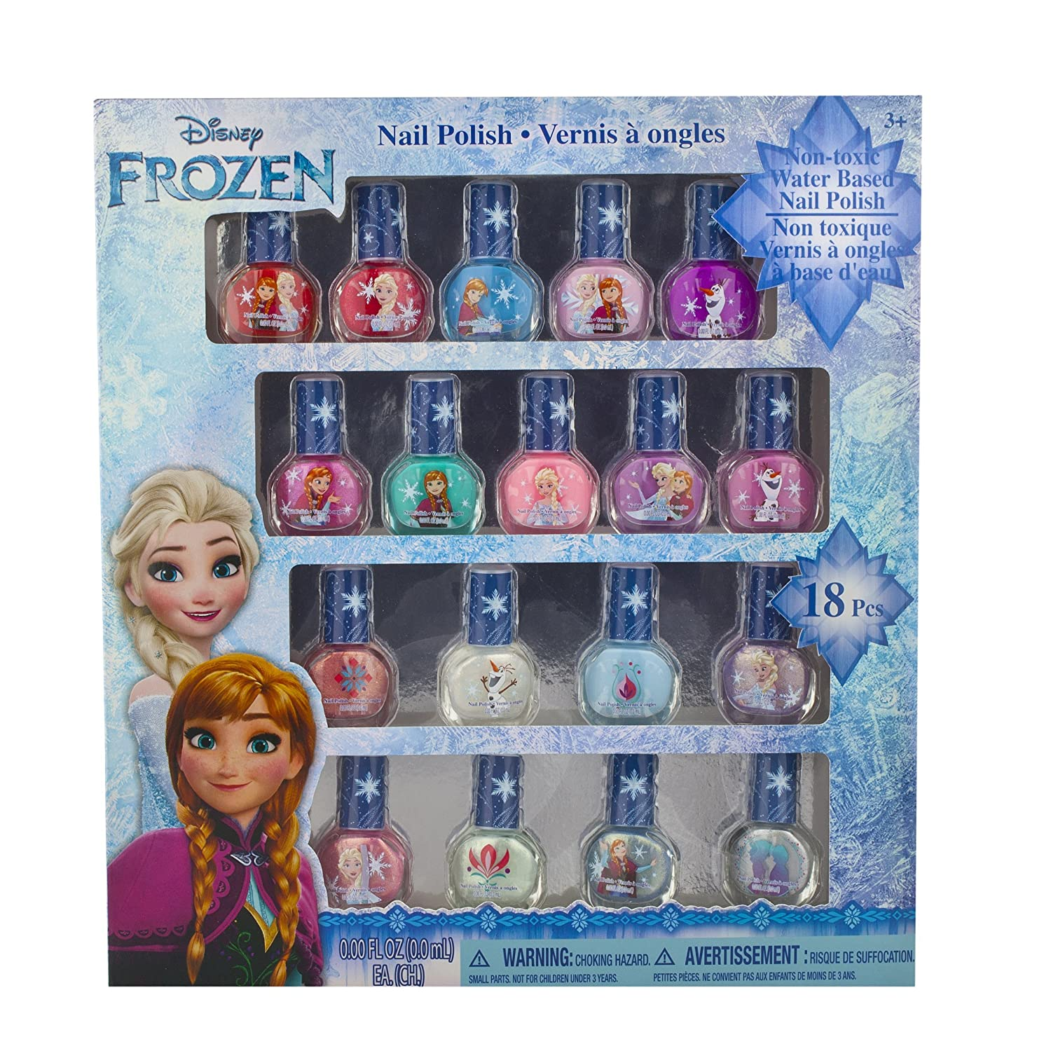 Amazon.com : Frozen Non-Toxic 18 Piece Peel Off Nail Polish Set : Beauty