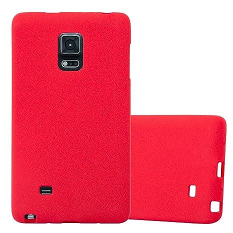 Cadorabo Funda para Samsung Galaxy Note Edge en Frost Rojo - Cubierta Proteccíon de Silicona TPU Delgada e Flexible con Antichoque - Gel Case Cover ...