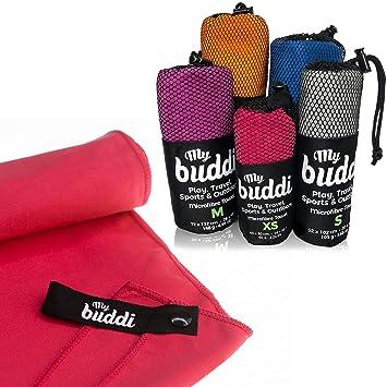Toallas de microfibra de Mybuddi – Toalla de viaje y deportes de calidad. Toalla de