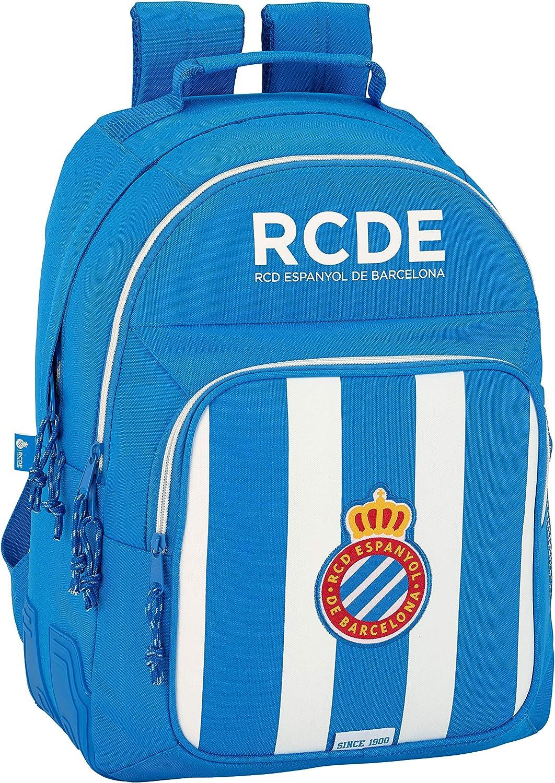 Safta Mochila Escolar R.C.D. Espanyol Oficial 320x150x420mm ...