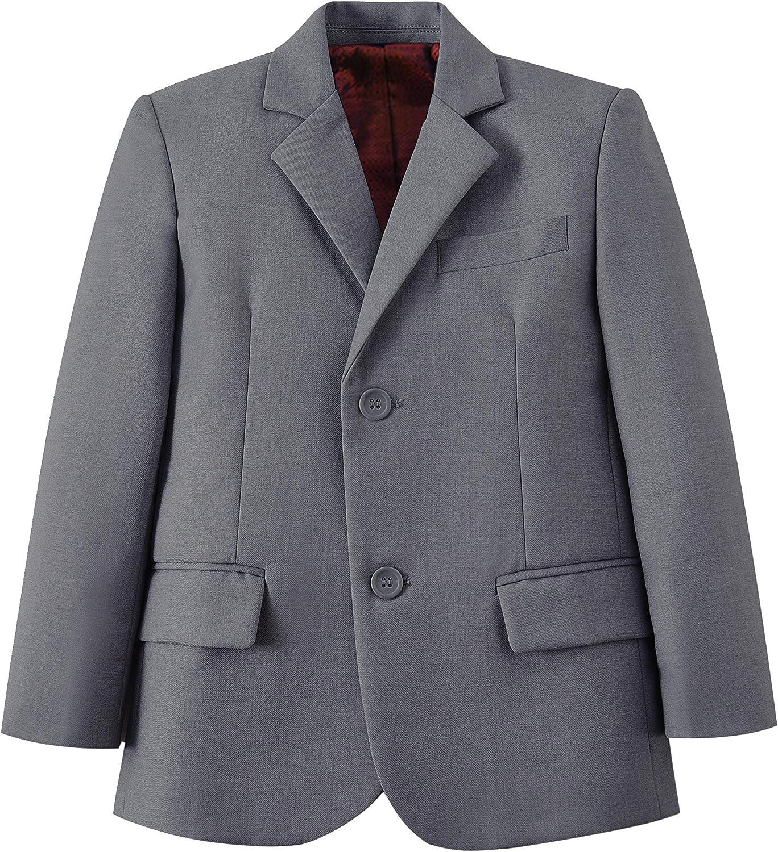 Fersumm Boys Formal Solid Color Blazer Jacket School Uniform Coat