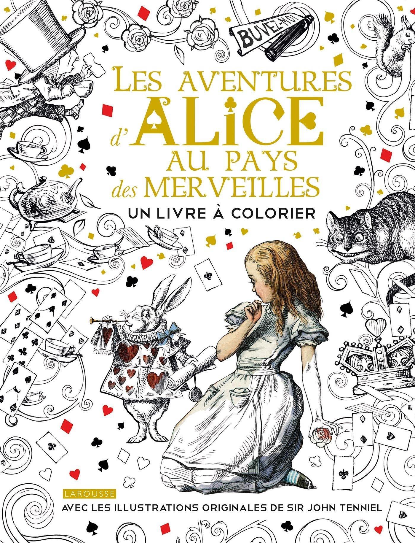 Alice Au Pays Des Merveilles Un Livre A Colorier Amazon Fr Carroll Lewis Livres