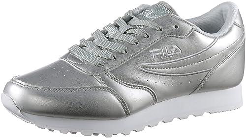 Fila - Zapatillas de Material Sintético para Mujer, Color Plateado, Talla 37 EU: Amazon.es: Zapatos y complementos