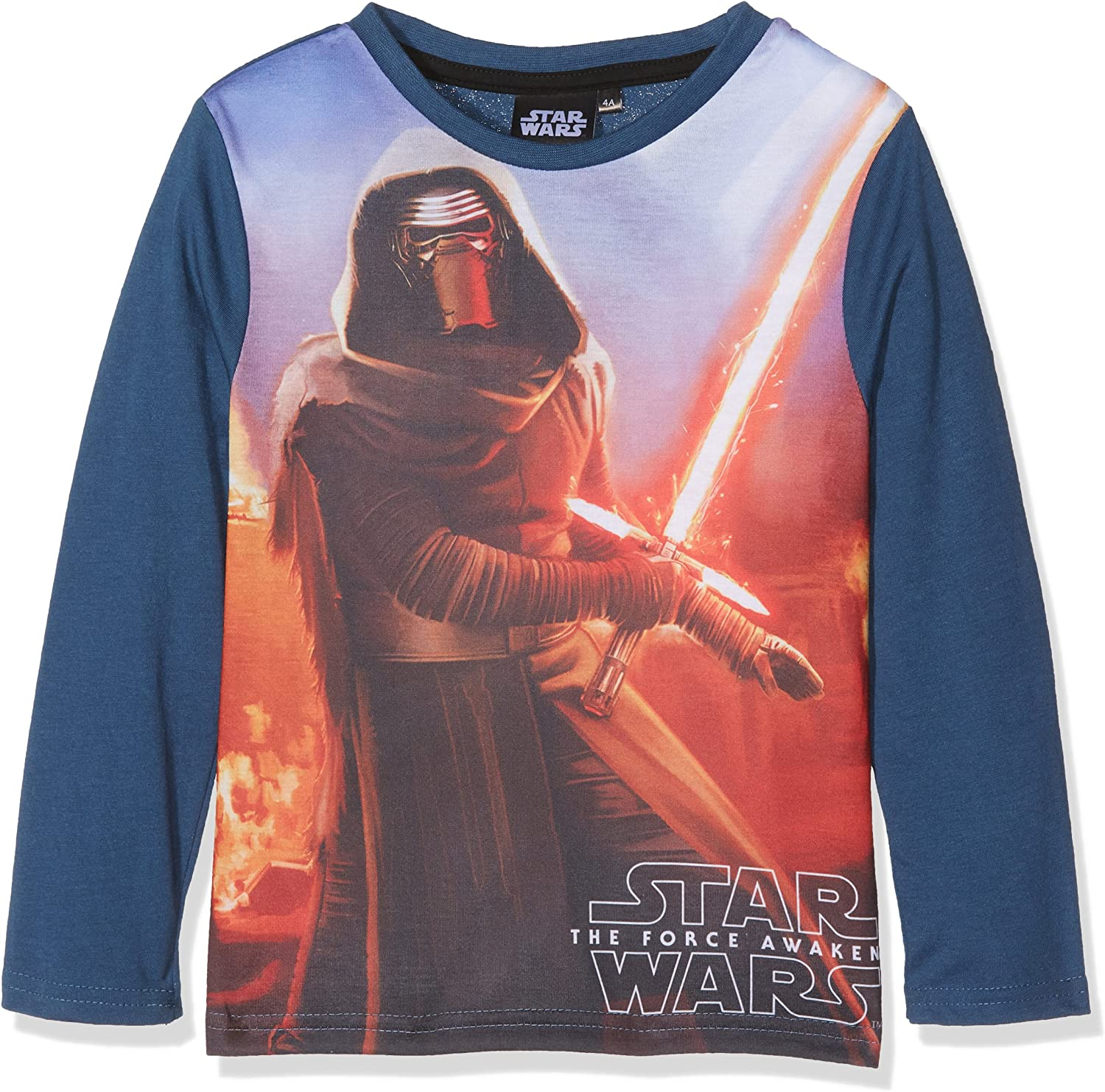 Official Starwars Boys Black Kylo Ren Printed T-Shirt Top Age 3-4 years New